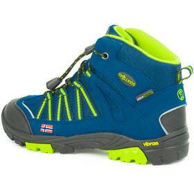TROLLKIDS Lofoten Hiker Botas Corte Medio Niños, blue/lime